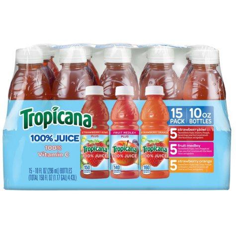 Tropicana Juice Blend Variety Pack (10 oz. bottles, 15 pk.)