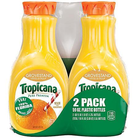 Tropicana Grovestand Orange Juice - 59 oz. - 2 pk.