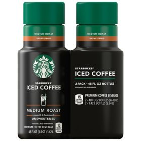 Starbucks Unsweetened Iced Coffee, Medium Roast (48 fl. oz., 2 pk.)