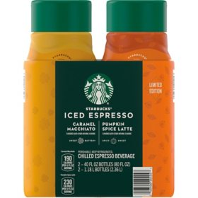 Starbucks Pumpkin Spice and Caramel Macchiato Holiday Variety Pack (40 fl. oz., 2 pk.)