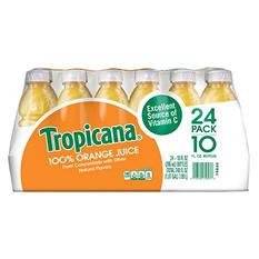 Tropicana 100% Orange Juice (10 oz. bottles, 24 ct.)