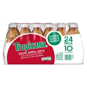 Tropicana 100% Apple Juice (10 oz., 24 pk.)