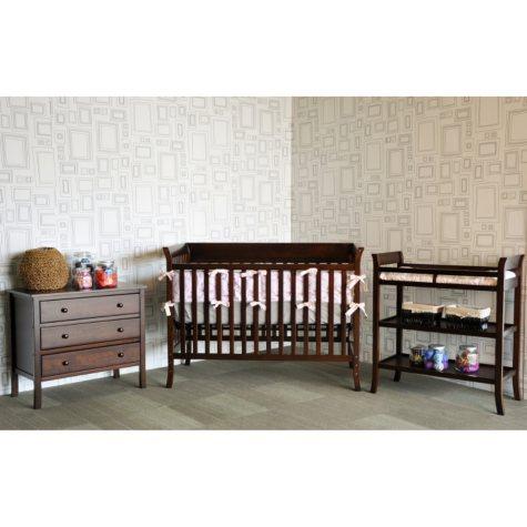 Baby Mod Ava 3-Piece Nursery Set - Espresso