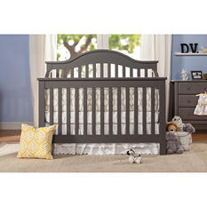 DaVinci Jayden 4-in-1 Convertible Crib with Toddler Bed Conversion Kit, Slate
