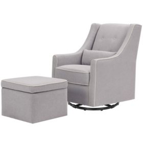 DaVinci Owen Swivel Glider and Storage Ottoman (Choose Your Color)