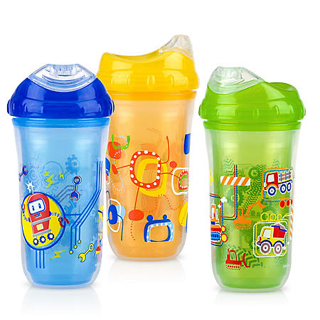 Nuby - Insulated Cool Sipper, Boys - 3 pk.