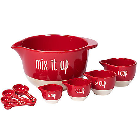 """""""Mix It Up"""" 9-Piece Mixing Bowl and Measuring Set"""
