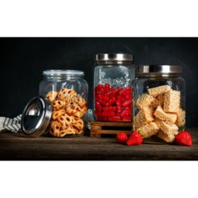 Mason Craft and More Glass Canisters, Set of 3