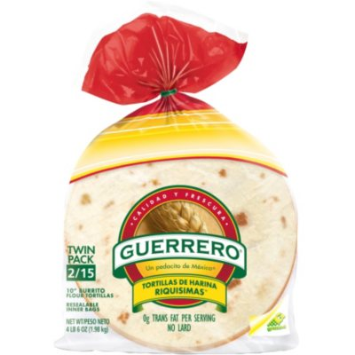 Guerrero 10 Burrito Flour Tortillas 34 92 Oz 2 Pk Sam S Club