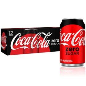 Coca-Cola Zero Sugar (12 fl. oz., 12 pk.)