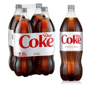 Diet Coke (2 L bottles, 4 pk.)