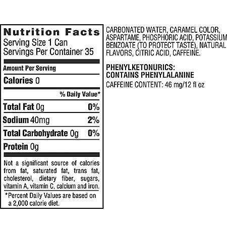 Coca dietética (latas de 12 oz., 35 pk.)