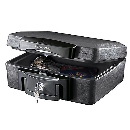 SentrySafe H0100 Fireproof Waterproof Chest with Key Lock 0.17 cu ft