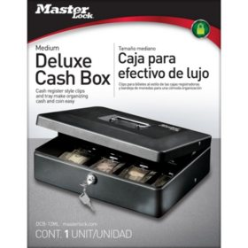 Master Lock Deluxe Cash Box
