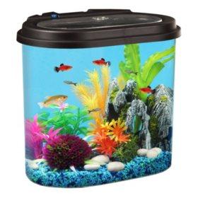 KollerCraft 4.5-Gallon Aquarium with LED Lights and Internal Filter