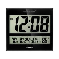 Sharp Digital Atomic Clock, Black