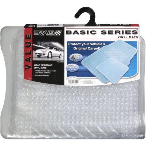 Rally Basic Series Vinyl Mats - 4 pc. set
