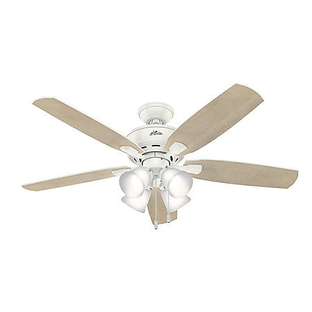 """Hunter 52"""" Amberlin Indoor Ceiling Fan with LED Light and Pull Chain"""