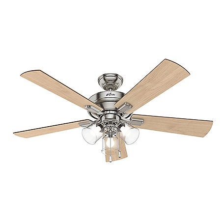 """Hunter 52"""" Crestfield Indoor Ceiling Fan with LED Light and Pull Chain"""