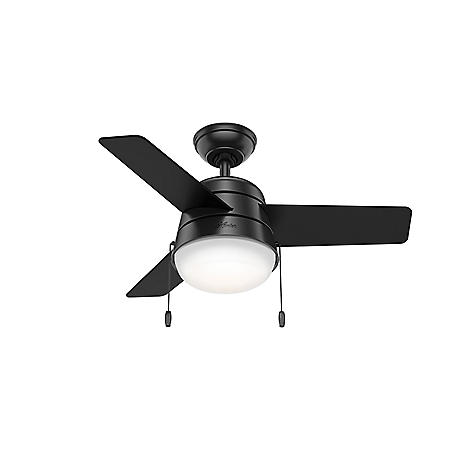 """Hunter 36"""" Aker Ceiling Fan with LED Light and Pull Chain"""