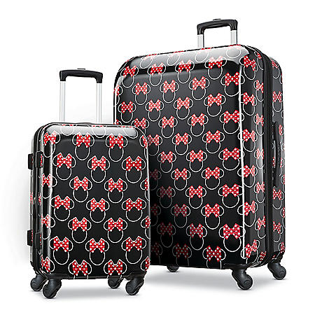 American Tourister Minnie Bows 2-Piece Hardside Spinner Suitcase Set
