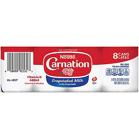 Carnation Evaporated Milk (12 oz. cans, 8 pk.)