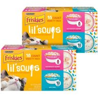 Purina Friskies Lil' Soups Adult Wet Cat Food, Seafood Variety Pack (1.2 oz., 36 pk.)
