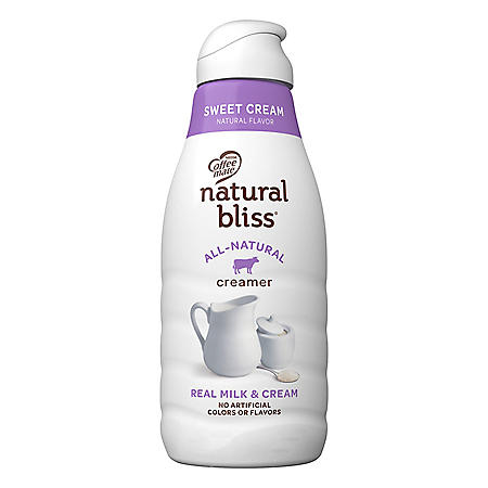 Coffee Mate Natural Bliss Sweet Cream All-Natural Liquid Coffee Creamer (46 fl. oz.)