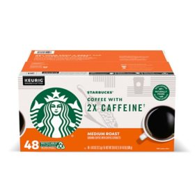 Starbucks Coffee 2X Caffeine K-Cups, Medium Roast (48 ct.)