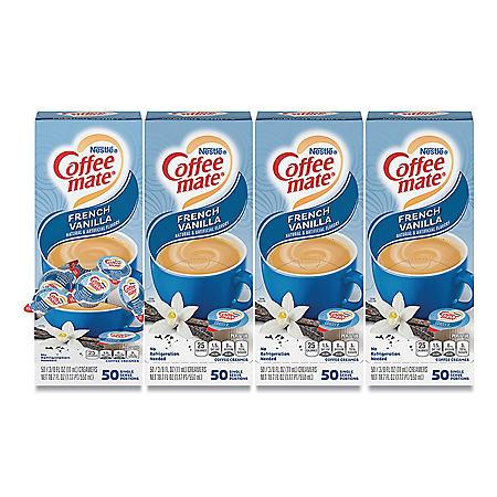 Nestle Coffee-mate Liquid Creamer Singles, French Vanilla (50 ct.)