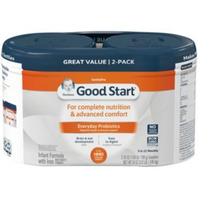 Gerber Good Start Gentle HM-O Infant Formula with Iron (25 oz., 2 pk.)