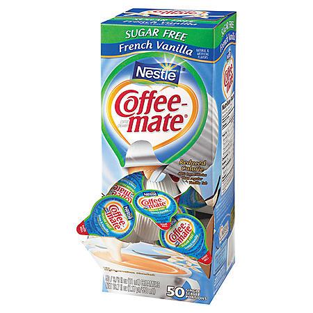 Nestle Coffee-mate Creamer Tubs, French Vanilla, Sugar-Free (50 ct.)