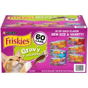 Purina Friskies Gravy Wet Cat Food, Variety Pack (5.5 oz., 60 ct.)