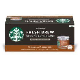 Starbucks Breakfast Blend Fresh Brew Ground Coffee Cans (20 ct.)