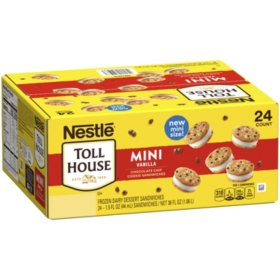 Nestle Toll House Mini Vanilla Chocolate Chip Cookie Sandwiches (24 ct.)