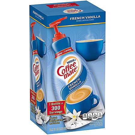 Nestle Coffee mate Liquid Creamer Pump, French Vanilla (1.5 L)