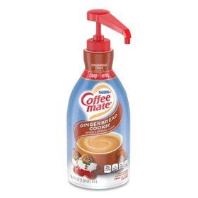 Coffee-mate Liquid Pump Bottle, Gingerbread Cookie (1.5 L)