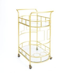 Sinclair Bar Cart, Gold