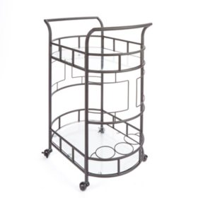 Sinclair Bar Cart, Hammered Bronze