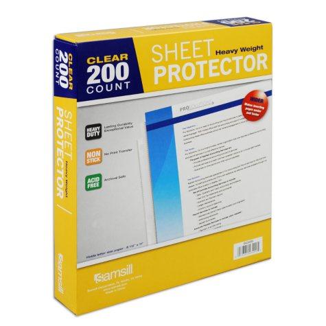 Samsill Clear Sheet Protectors - 200 ct.