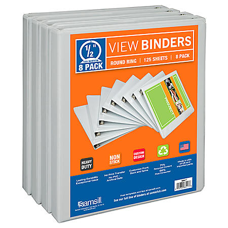 "Samsill Presentation Binder - 1/2"" - 8 pack"