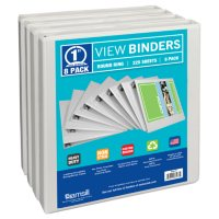 "Samsill Presentation Binder, Round Ring, 1"",  8 Pack"