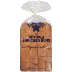 Colonial Hot Dog Enriched Buns (24oz)