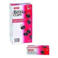 ACCO Binder Clips, Medium, 12/Box, 8 Pack