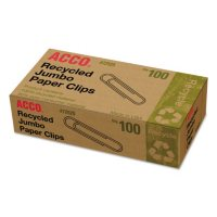 ACCO Recycled Paper Clips - Jumbo - 100 ct. - 10 pk.