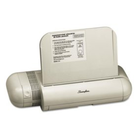 """Swingline - 28-Sheet Commercial Electric Two-Hole Punch, Fixed 1/4"""" Holes -  Platinum"""