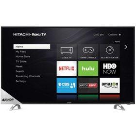 "Hitachi 65"" Class 4K HDR Roku TV - 65R80"