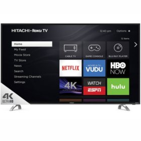 "Hitachi 43"" Class  4K UHD HDR TV with Roku TV - 43R80 Series"