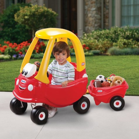 Cozy Coupe with Trailer