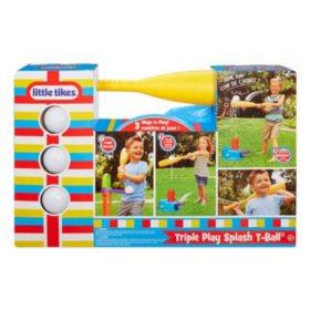 Little Tikes 3-in-1 Triple Splash T-ball Set with 3 Balls